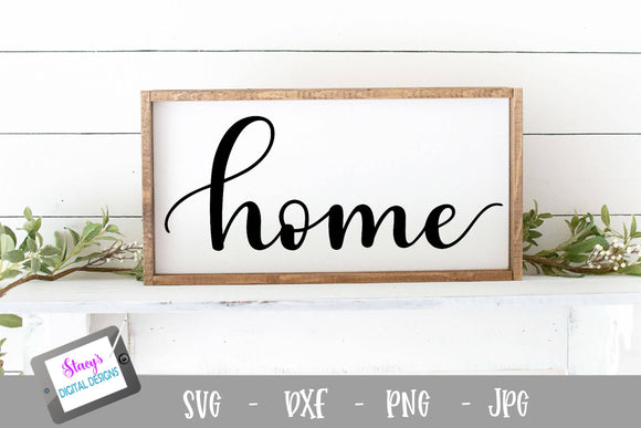 Home SVG - Handlettered