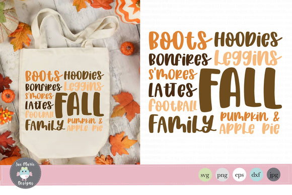 Fall Word List svg