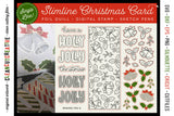 Foil Quill Christmas Slimline Card | Holly Jolly Christmas single line sketch file