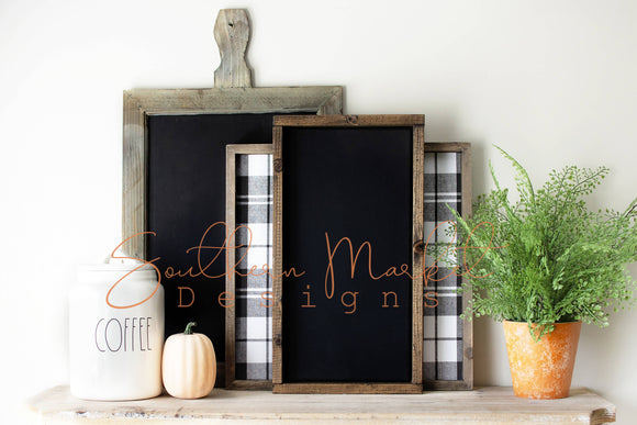 8x16 FALL FRAME WOOD SIGN DIGITAL MOCK UP STOCK PHOTOGRAPHY