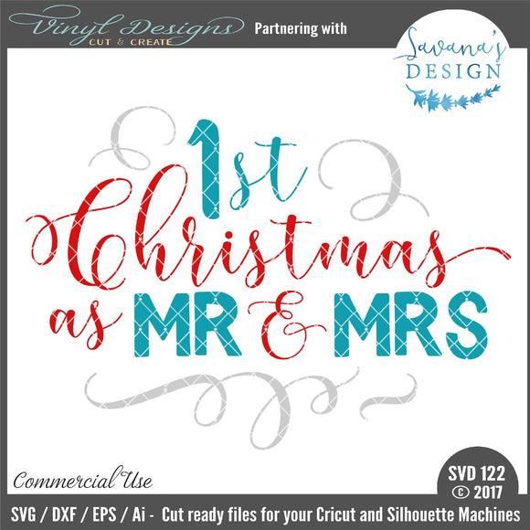 1st Christmas as Mr and Mrs Cut File