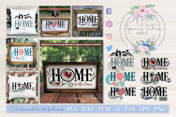 Home SVG Bundle of 6 Designs