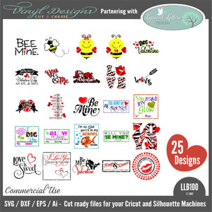 Valentine's Day Bundle with 25 Designs