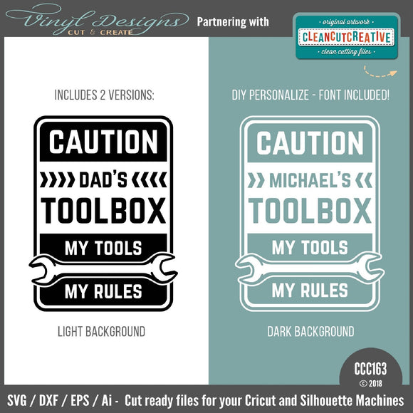 CCC163 My Tools My Rules SVG cut file
