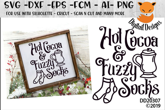 Hot Cocoa And Fuzzy Socks Winter SVG