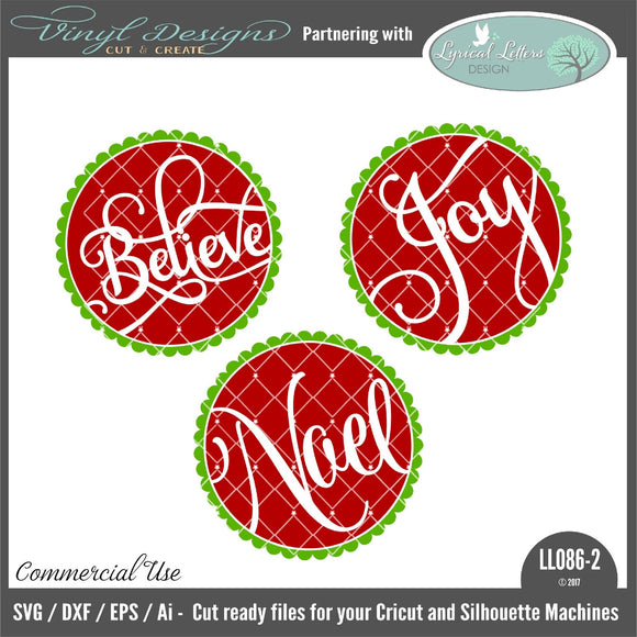 Believe Joy Noel Floating Ornament Bundle