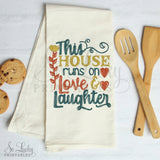 This House runs on Love and Laughter watercolor printable sublimation design - Digital download - PNG - Printable graphic design