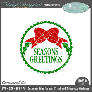 Seasons Greetings Ornament Design