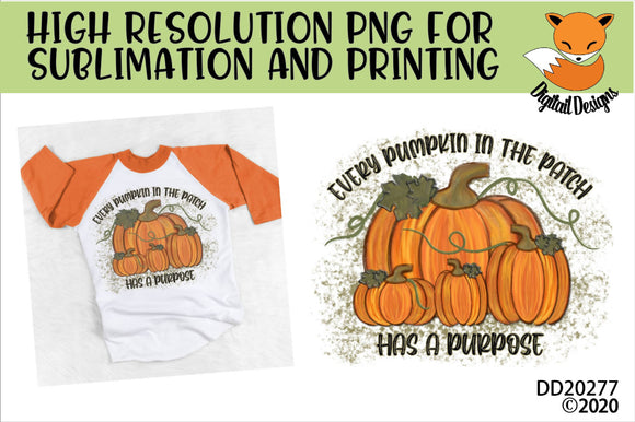 Pumpkin Patch Sublimation Design