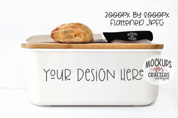Bread box, white, MOCK-UP