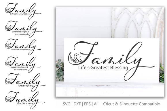 Family Quote Bundle SVG | DXF