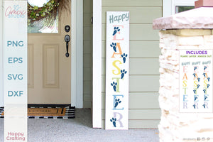 Happy Easter Vertical Sign