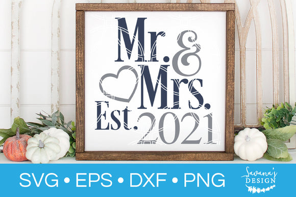 Mr and Mrs Est SVG