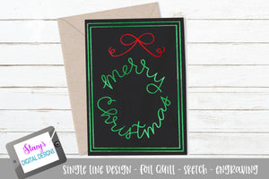 Merry Christmas SVG - Foil quill / sketch - Card Design