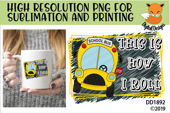 School Bus Driver Sublimation PNG