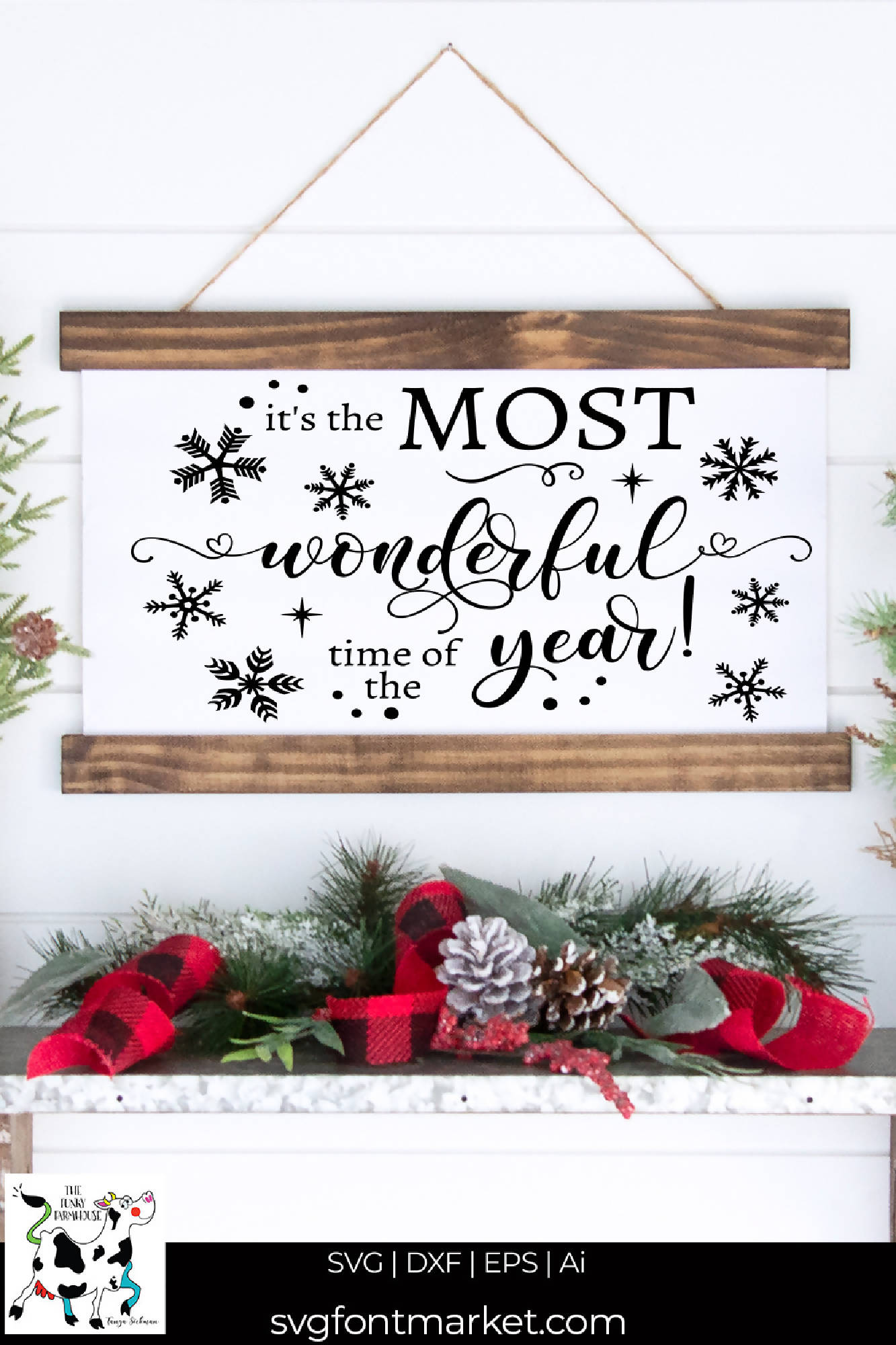It S The Most Wonderful Time Of The Year Svg Cut File Svg Font Market