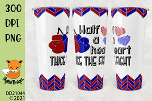 CHD Awareness Skinny and Tapered Tumbler Sublimation Design