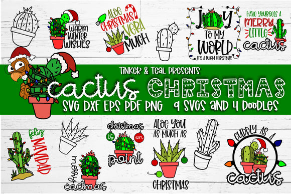Cactus Christmas SVG Bundle