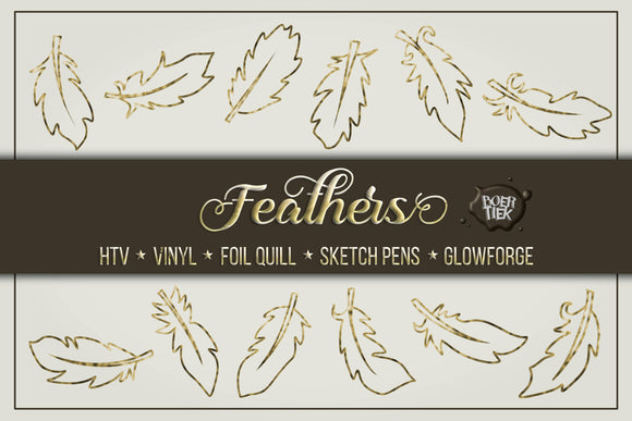 Feathers single line & cut files