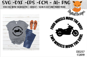 Two Wheel Move the Soul Biker SVG