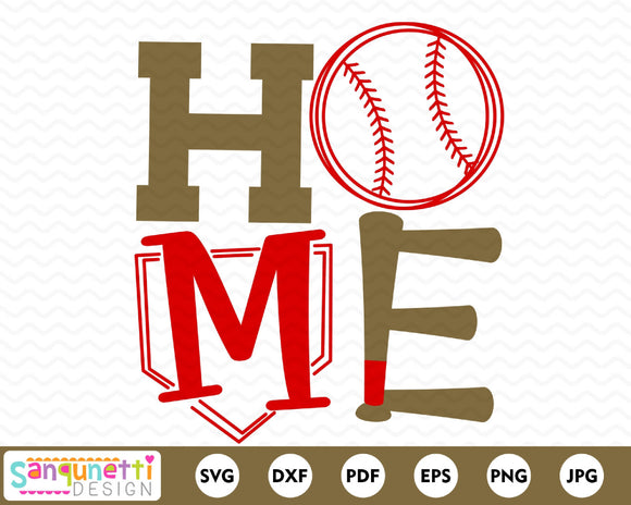 Baseball Home SVG cutting file