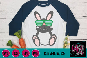 Bunny With Shades Cut File WG731