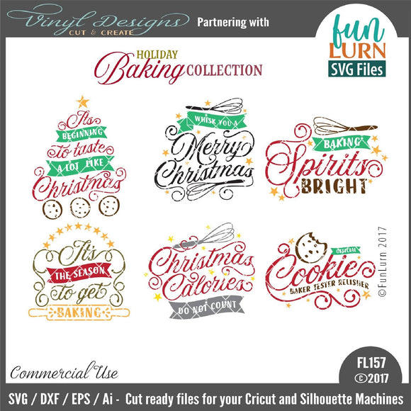 Holiday Baking Collection Cut File