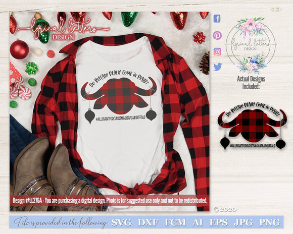 Do Buffalo Come In Plaid Christmas SVG Cut File LL277A