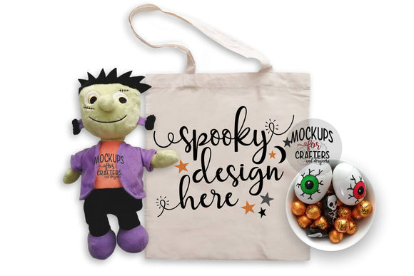 Treat Bag, Tote Bag Mock-Up - Halloween Theme