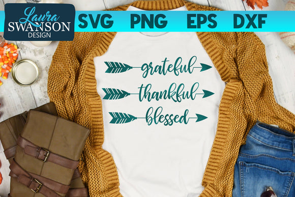 Grateful Thankful Blessed Arrows