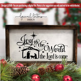 Joy To The World the Lord Is Come SVG Cut File LL050B