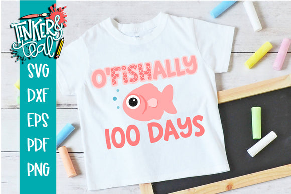 Ofishally 100 Days of School SVG