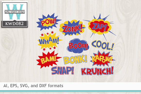 BUNDLE - Comic Book SVG
