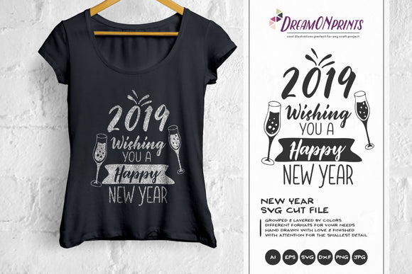 Happy New Year SVG - Cheers for the New Year SVG