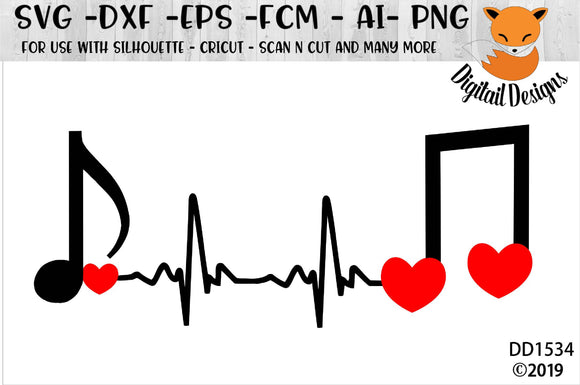 Music Lover EKG Heartbeat