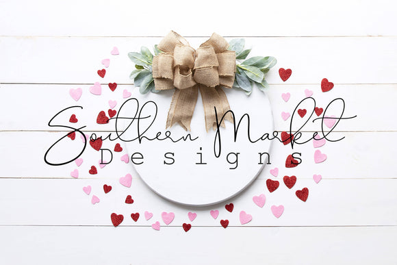 VALENTINE WOOD ROUND FARMHOUSE DIGITAL MOCK UP STOCK PHOTOGRAPHY