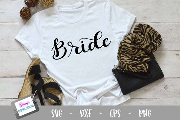 Bride SVG - Bridal Party SVG - Handletttered