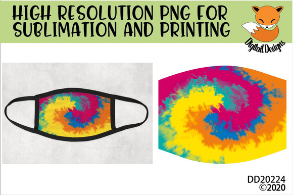 Tie Dye Sublimation Design for face mask