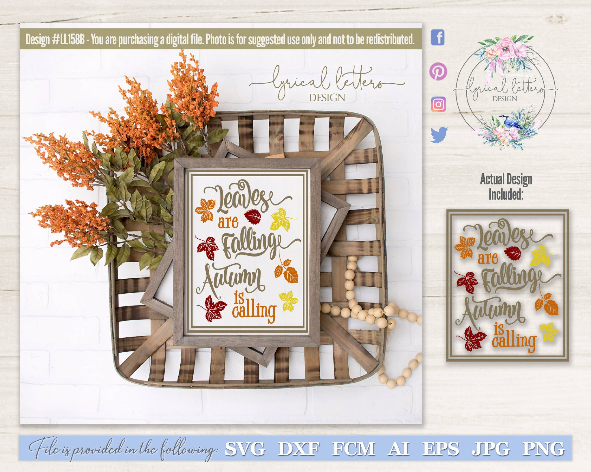 Leaves Are Falling Autumn Is Calling Svg Cut File Svg Font Market