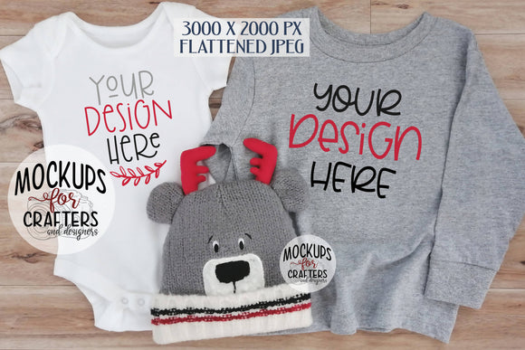 Baby Bodysuit & Child's T-shirt combo MOCK-UP