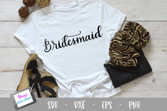 Bridesmaid SVG - Bridal Party SVG - Handletttered