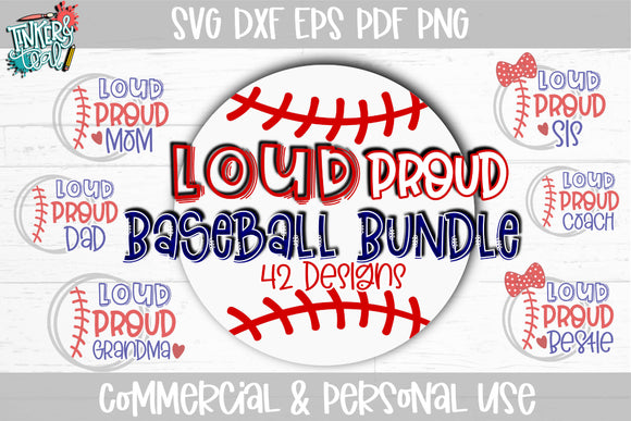 Loud Proud Baseball SVG Bundle