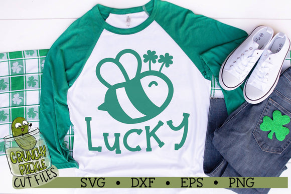 Bee Lucky - St. Patrick's Day SVG Cut File