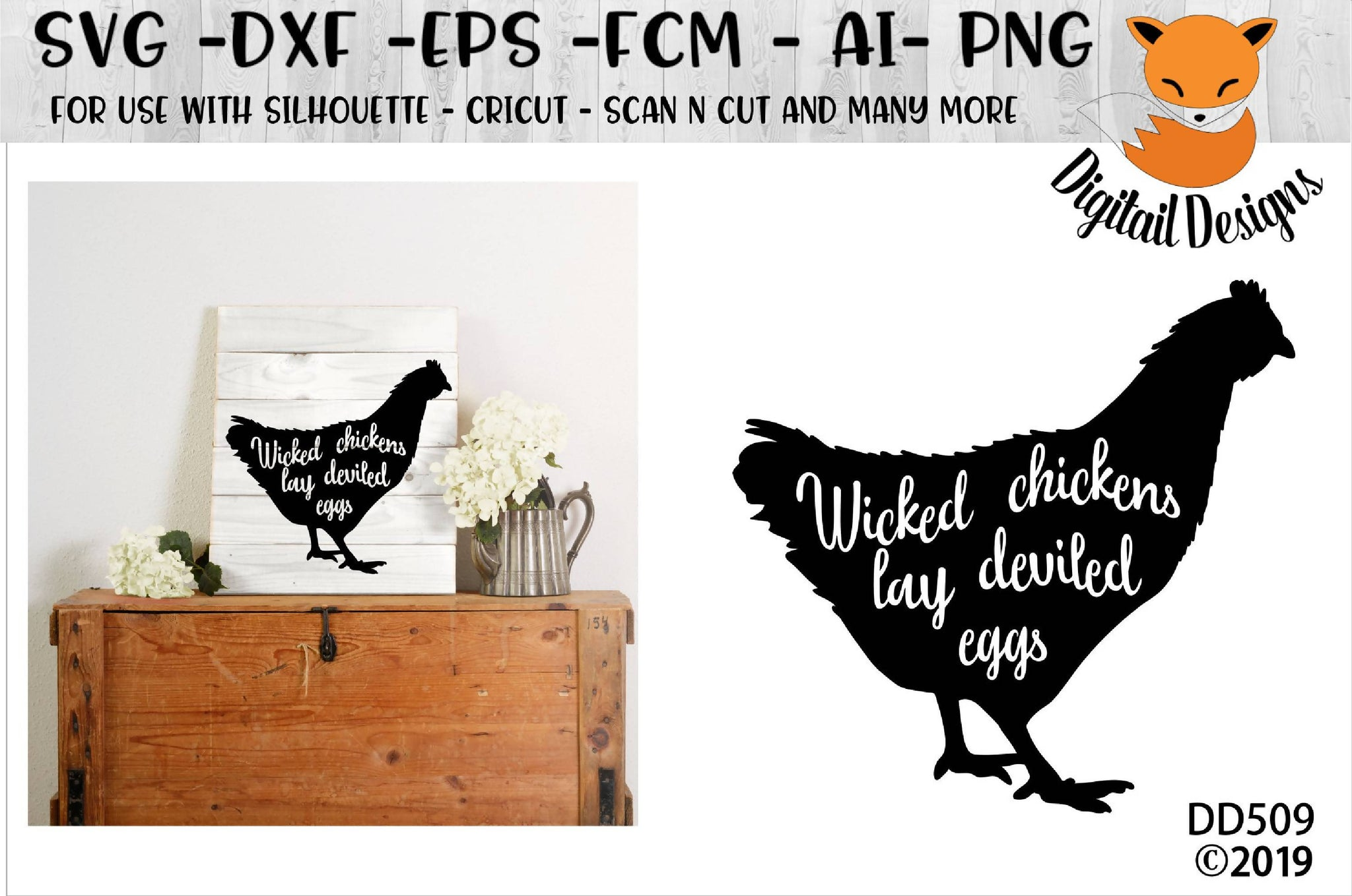 Wicked Chickens Lay Deviled Eggs Svg Font Market