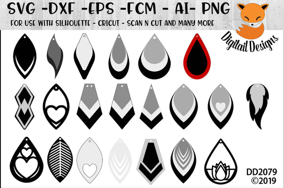 Earring Shape SVG Bundle