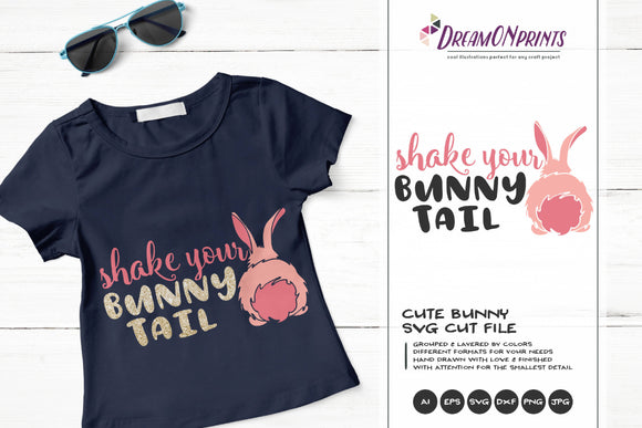 Shake Your Bunny Tail SVG - Bunny Butt SVG Cut Files