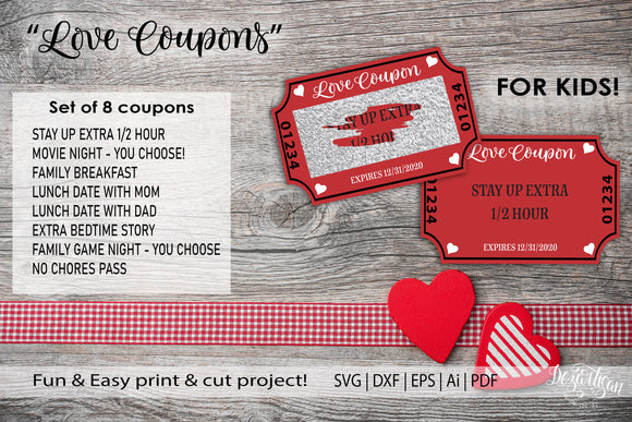 Valentines Day Coupon Kids Scratch Off SVG | DXF | PDF