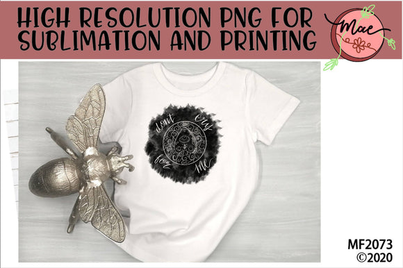 Don't Cry For Me Gothic Sublimation Design