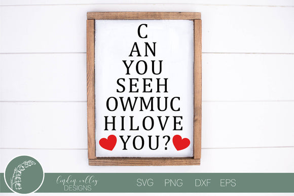 Valentine's Eye Chart SVG
