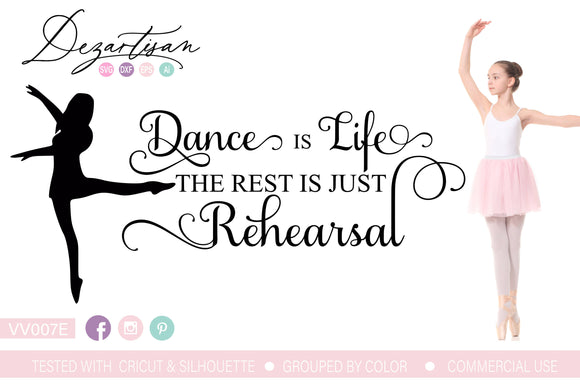 Dance Is Life SVG | DXF Cut File